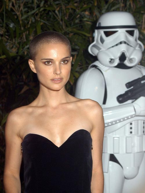 Nataly Portman's shaved head