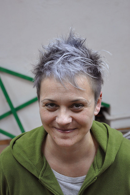 silver grey creative pixie