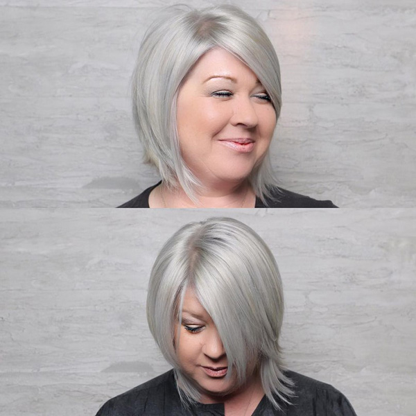short hairstyles for fat women