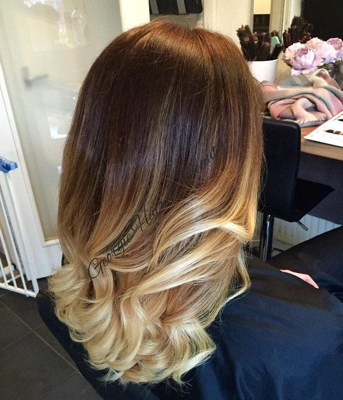 balayage ombre color for brown hair