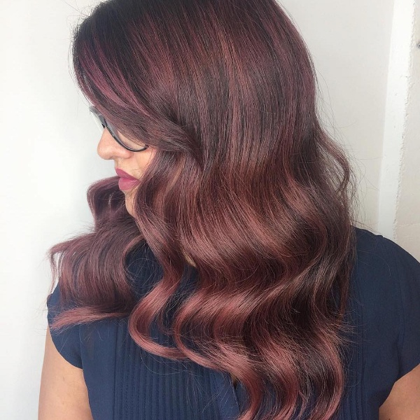 red and black ombre hair