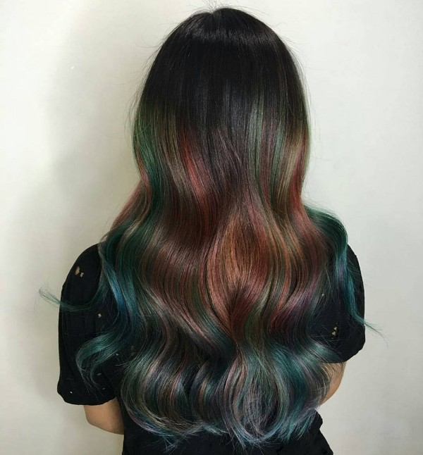 25 Black And Blue Hair Color Ideas August 2018