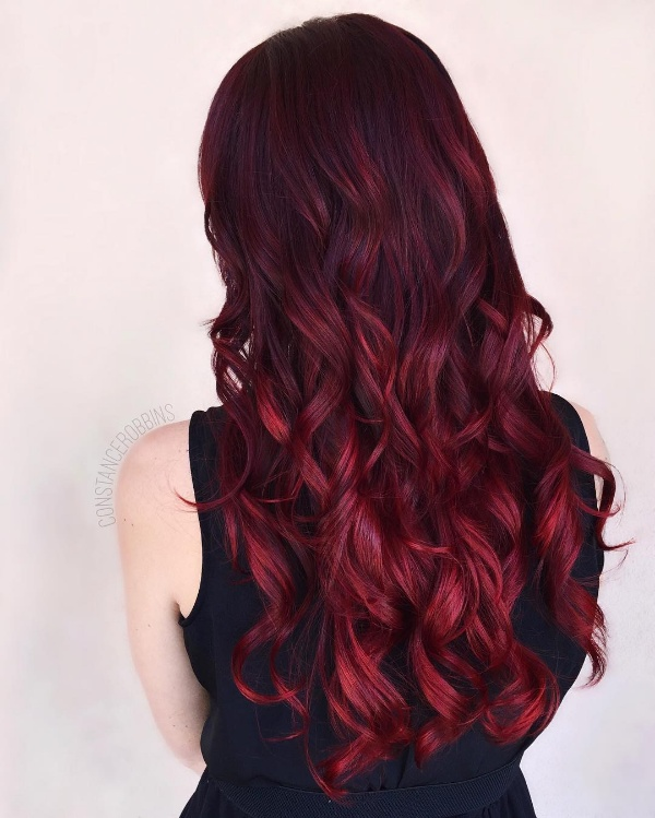 Top 25 red and black ombrehighlights hair color ideas black hair with burgundy highlights pmusecretfo Choice Image