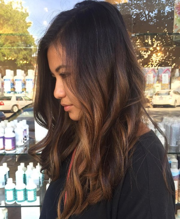 30 Stunning Ideas Of Black Hair With Highlights