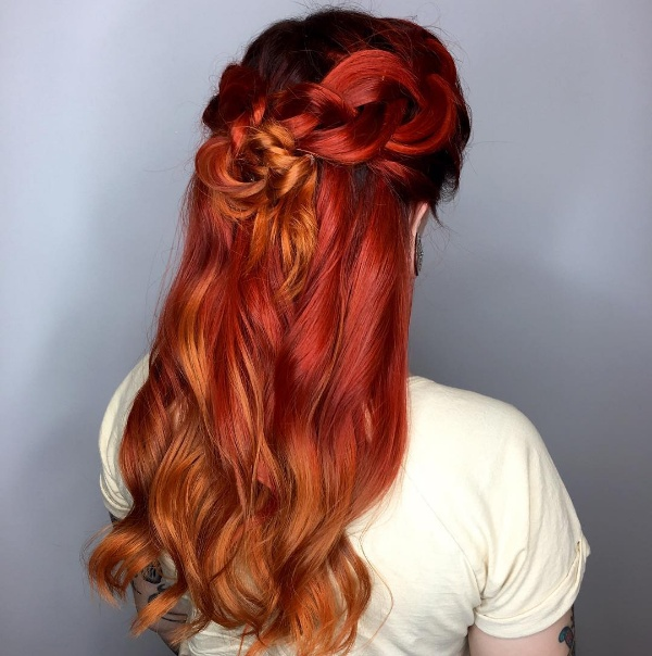 Top 25 red and black ombrehighlights hair color ideas ginger to wild cherry ombre coloration burgundy blonde and black hair pmusecretfo Choice Image