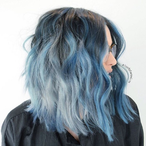 blue and black hair tumblr