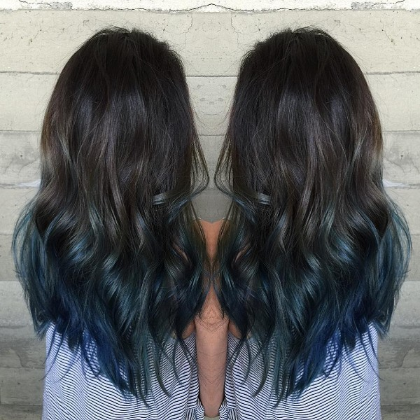 Top 25 Black And Blue Hair Color Ideas