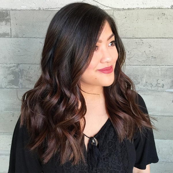 black to brown ombre hair