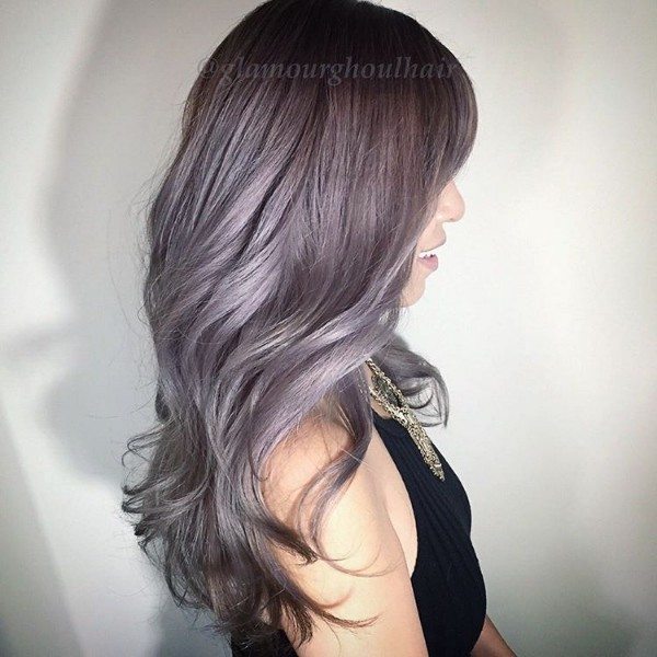 grape metallic metling into gray