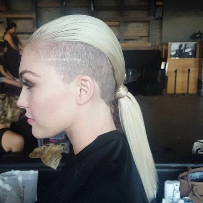 undercut women long hair