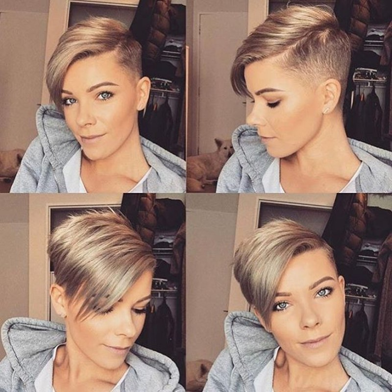 side pixie cut
