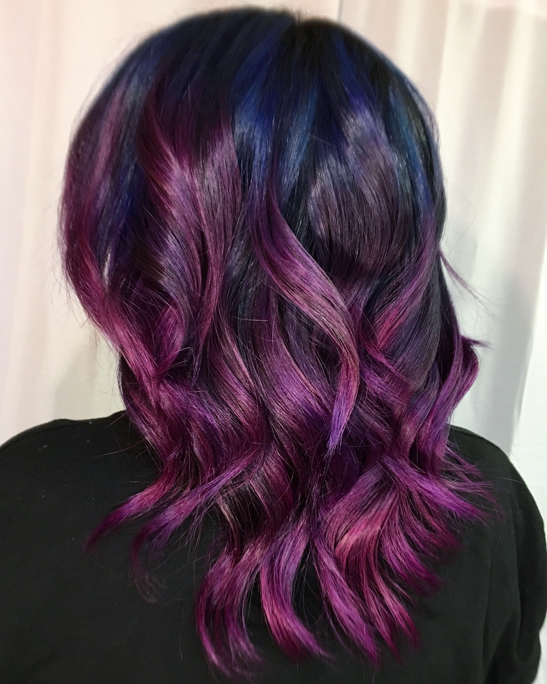 deep purple highlights hair