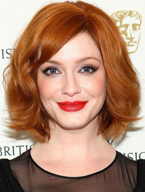 Christina-Hendricks-Short-Red-Bob-Haircut-for-2014
