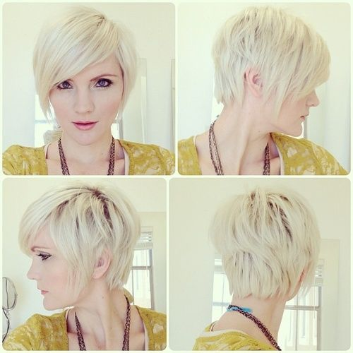 Side Swept Bangs Pixie