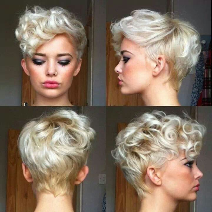 curly long pixie
