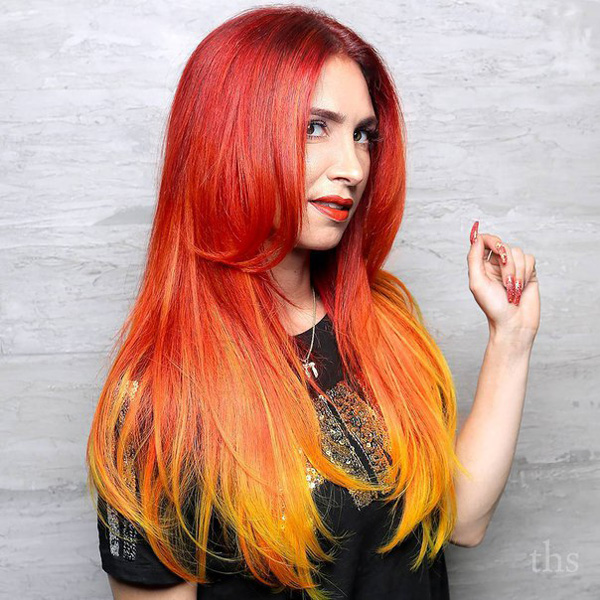 extremely hot firey red hair color idea