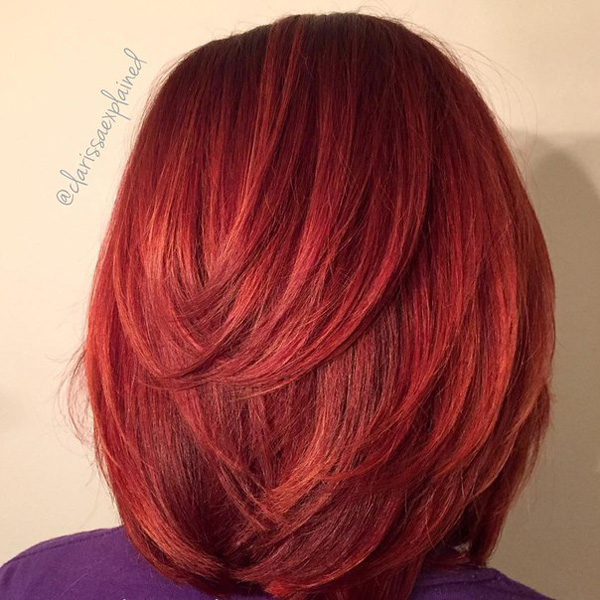 mahogany red bob