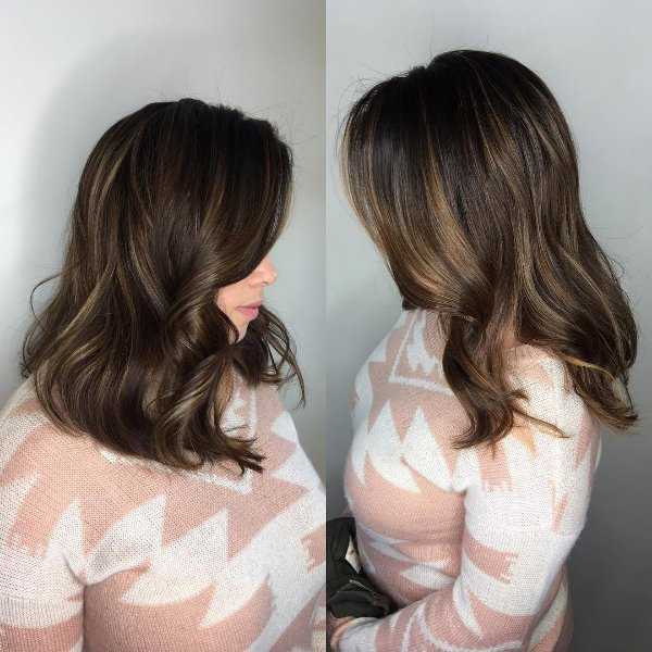 Dark Hair With Brown Highlights