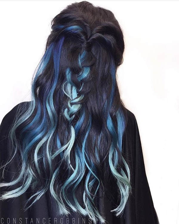 25 Black And Blue Hair Color Ideas