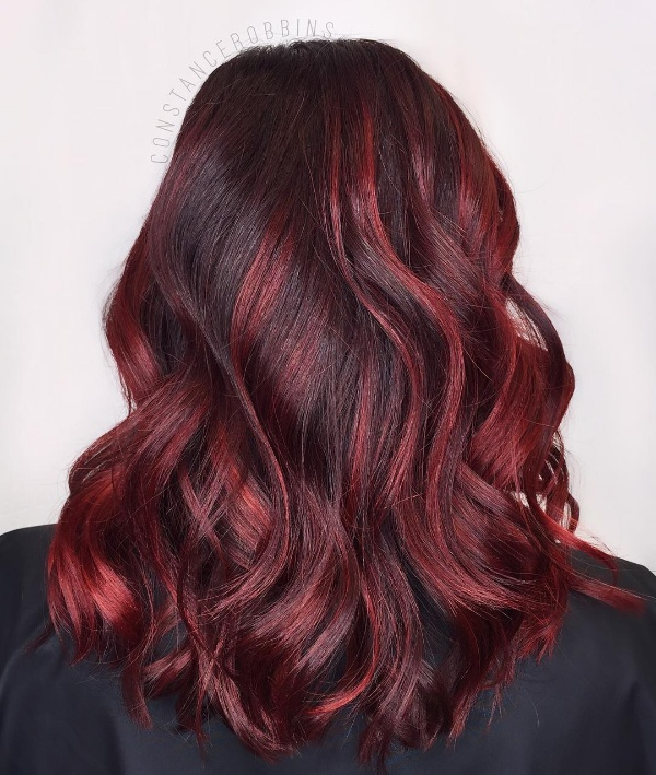 25 Red And Black Ombre Highlights Hair Color Ideas January 2019