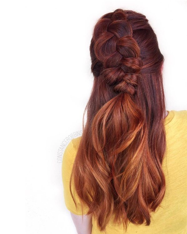 25 Red And Black Ombre Highlights Hair Color Ideas October 2018