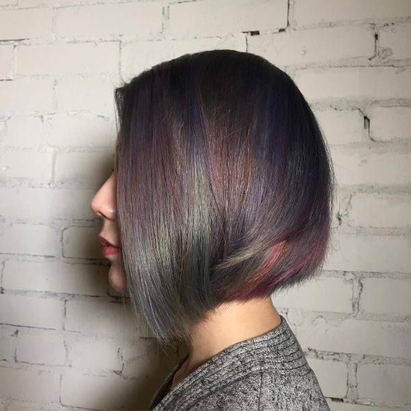 metallic ombre for black hair