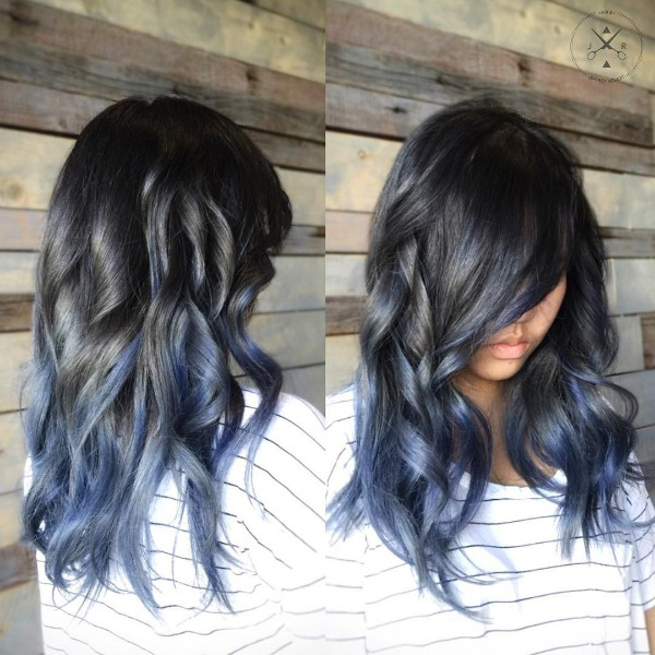 25 Black And Blue Hair Color Ideas August 2019