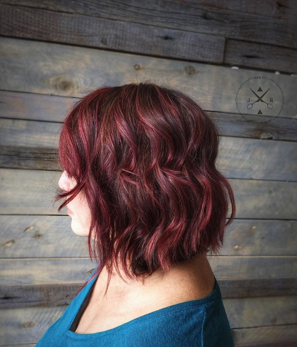black and red hair color