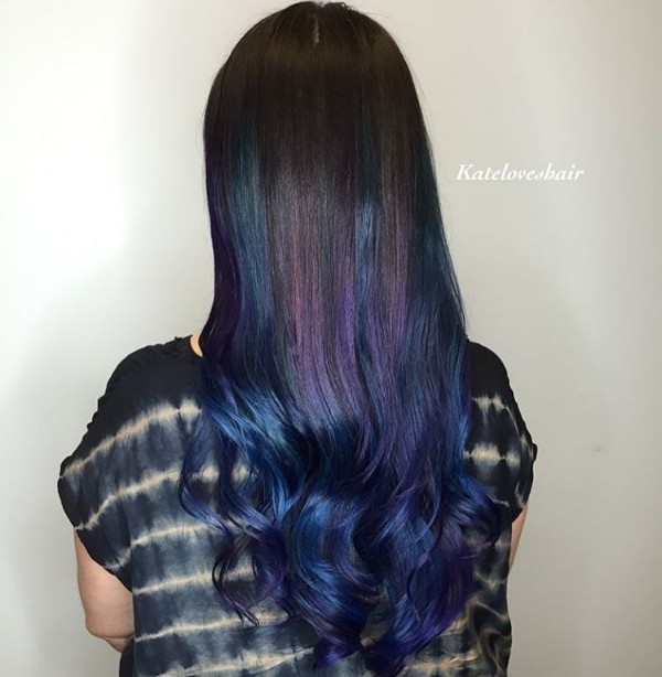 black purple and blue hair