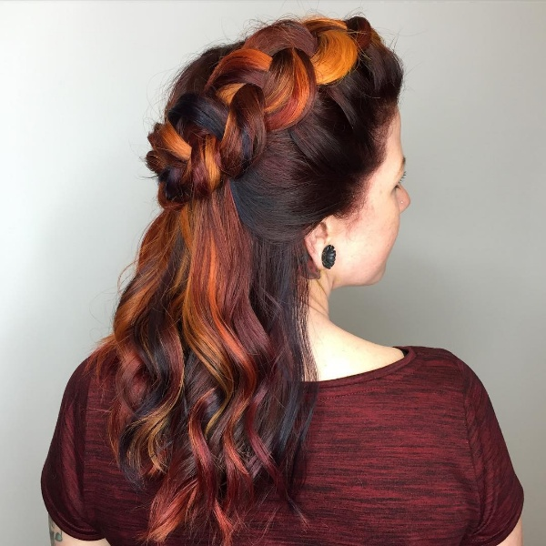 25 Red And Black Ombrehighlights Hair Color Ideas October 2018