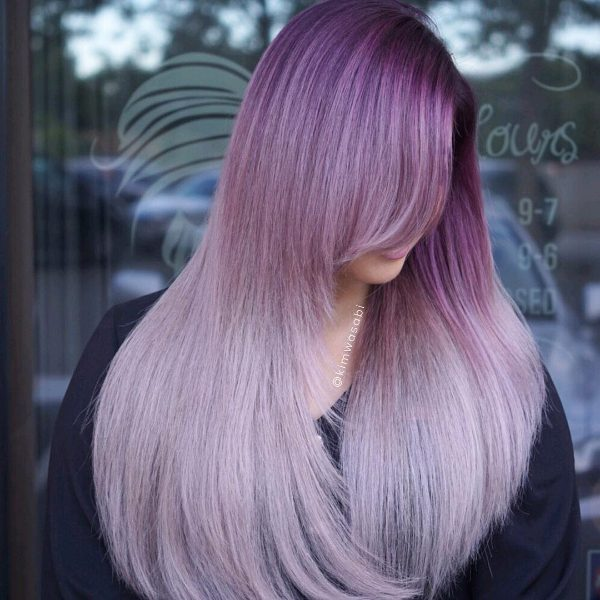 black and purple ombre hair