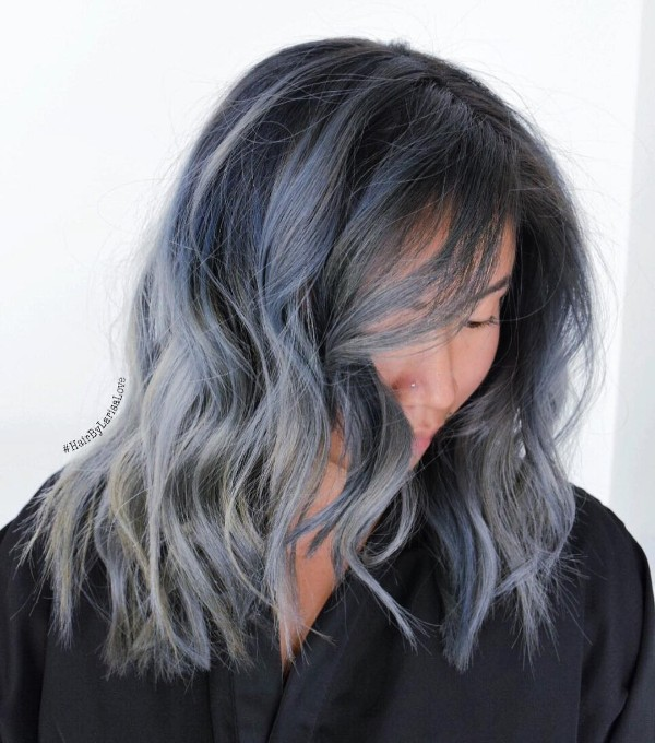 black and blue hair color ideas