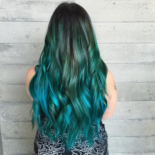 black blue ombre hair