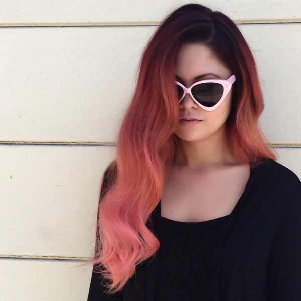 black and burgundy ombre hair