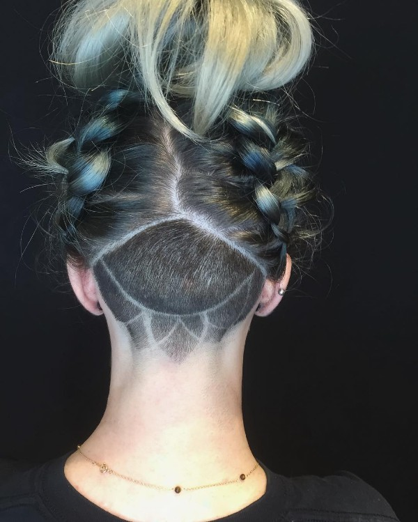 black and blue tips hair