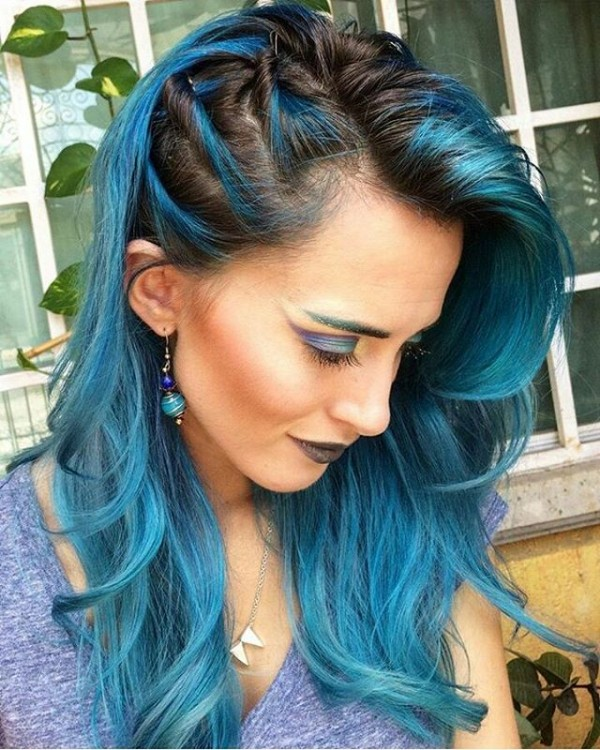 black and blue hair styles