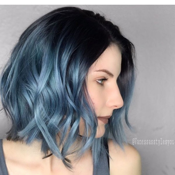 blue and black hair color