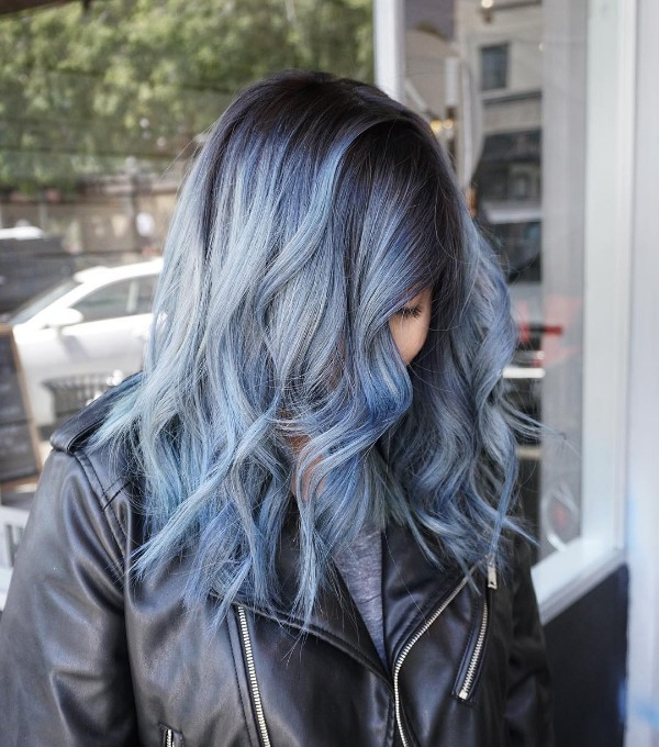 blue gray multi-dimensional coloration