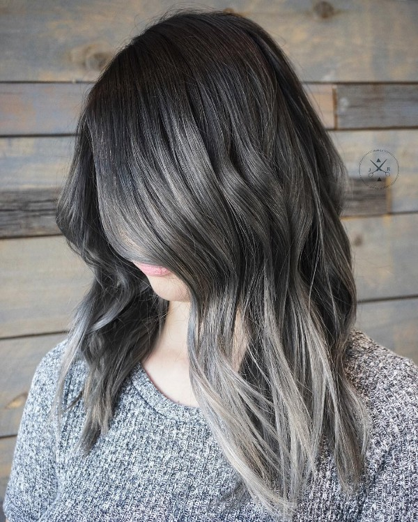 25 Cool Black And Grey Hair Color Ideas Trendy Now October 2018