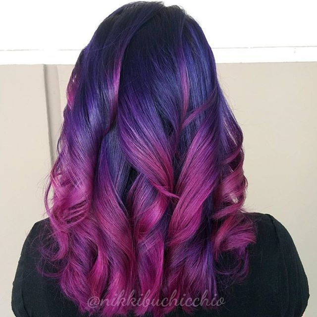 red and purple hair styles 50 great purple ombre trends of 2018 plum lilac 8184 | black and vine ombre hair