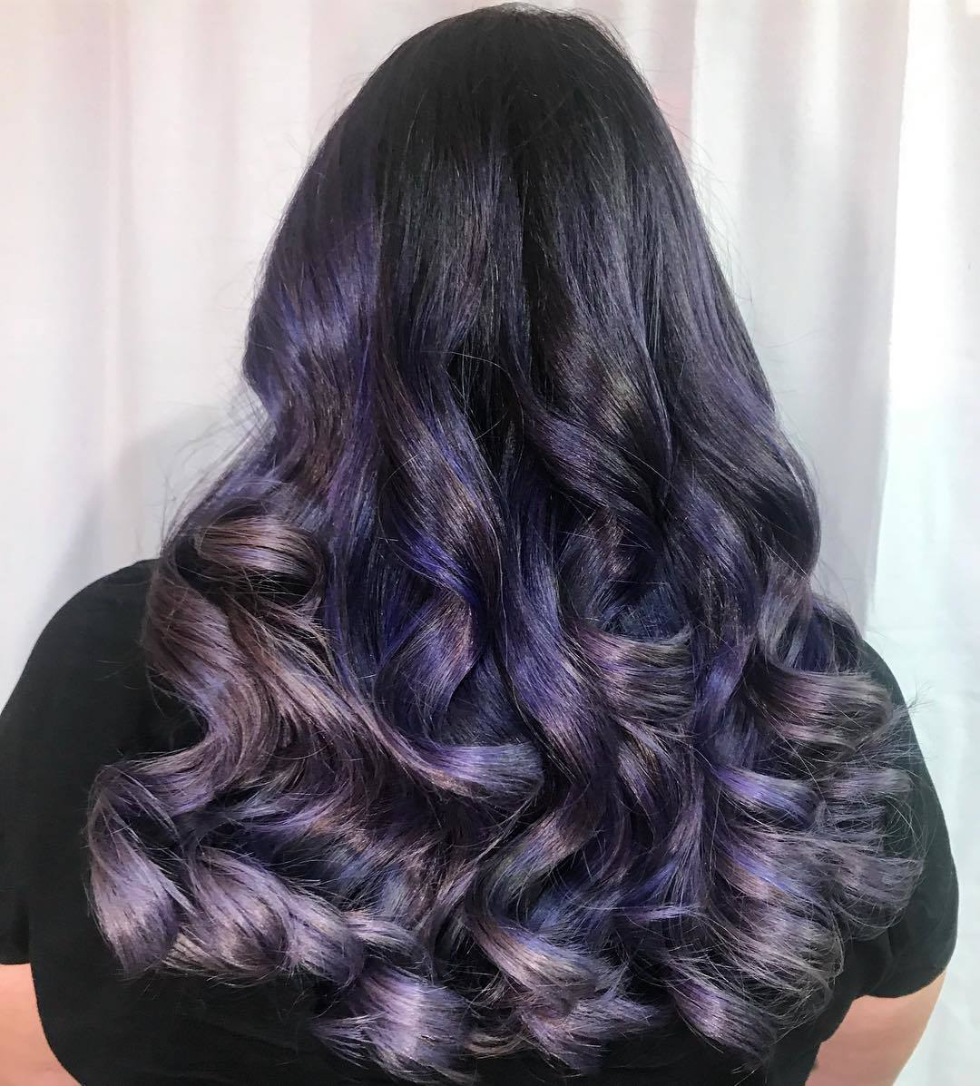 black and violet ombre hair