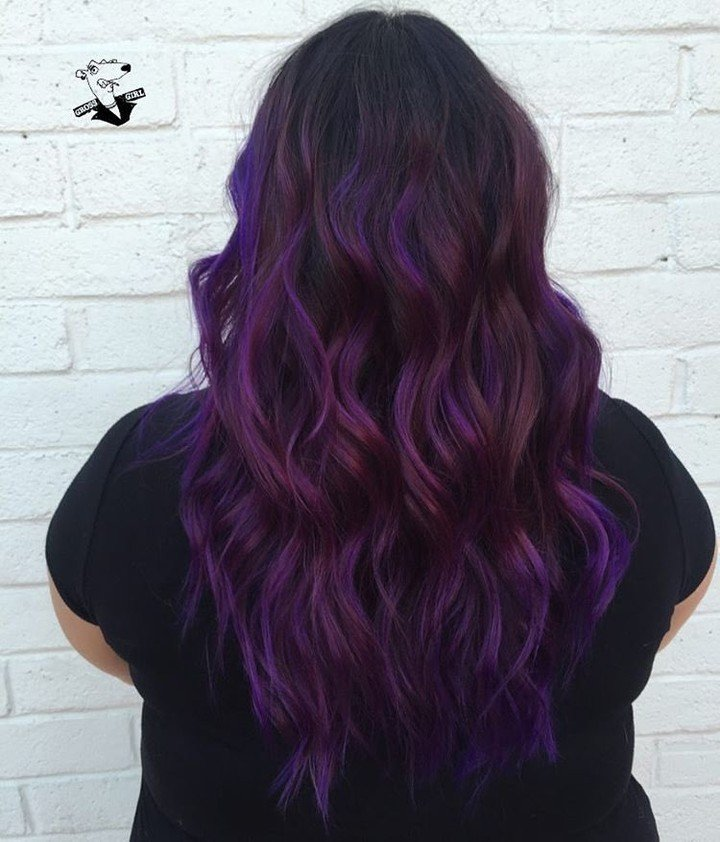 50+ Great Purple Ombre Trends of 2018: Plum, Lilac ...