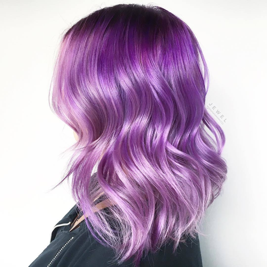 electric purple ombre hair
