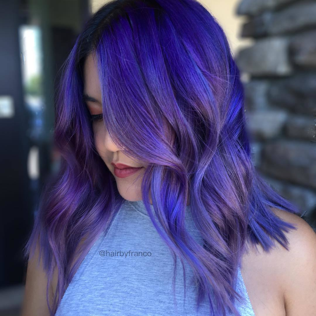 lavender and blue ombre hair