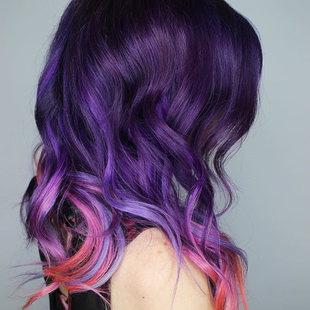 pink and purple ombre hair