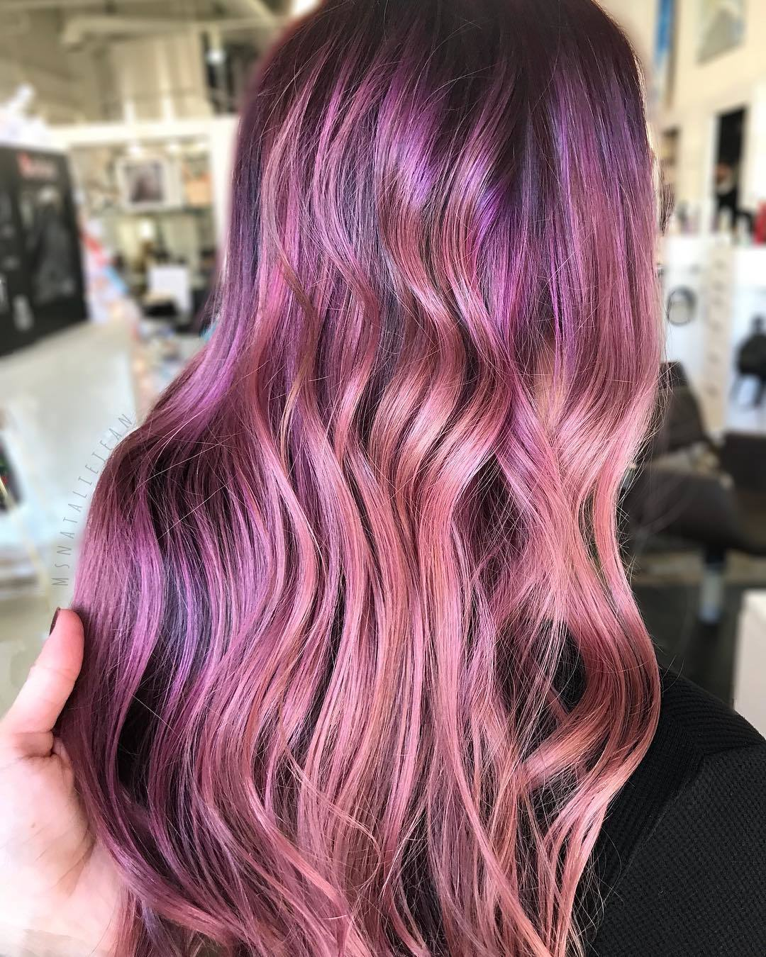 purple and mauve ombre hair