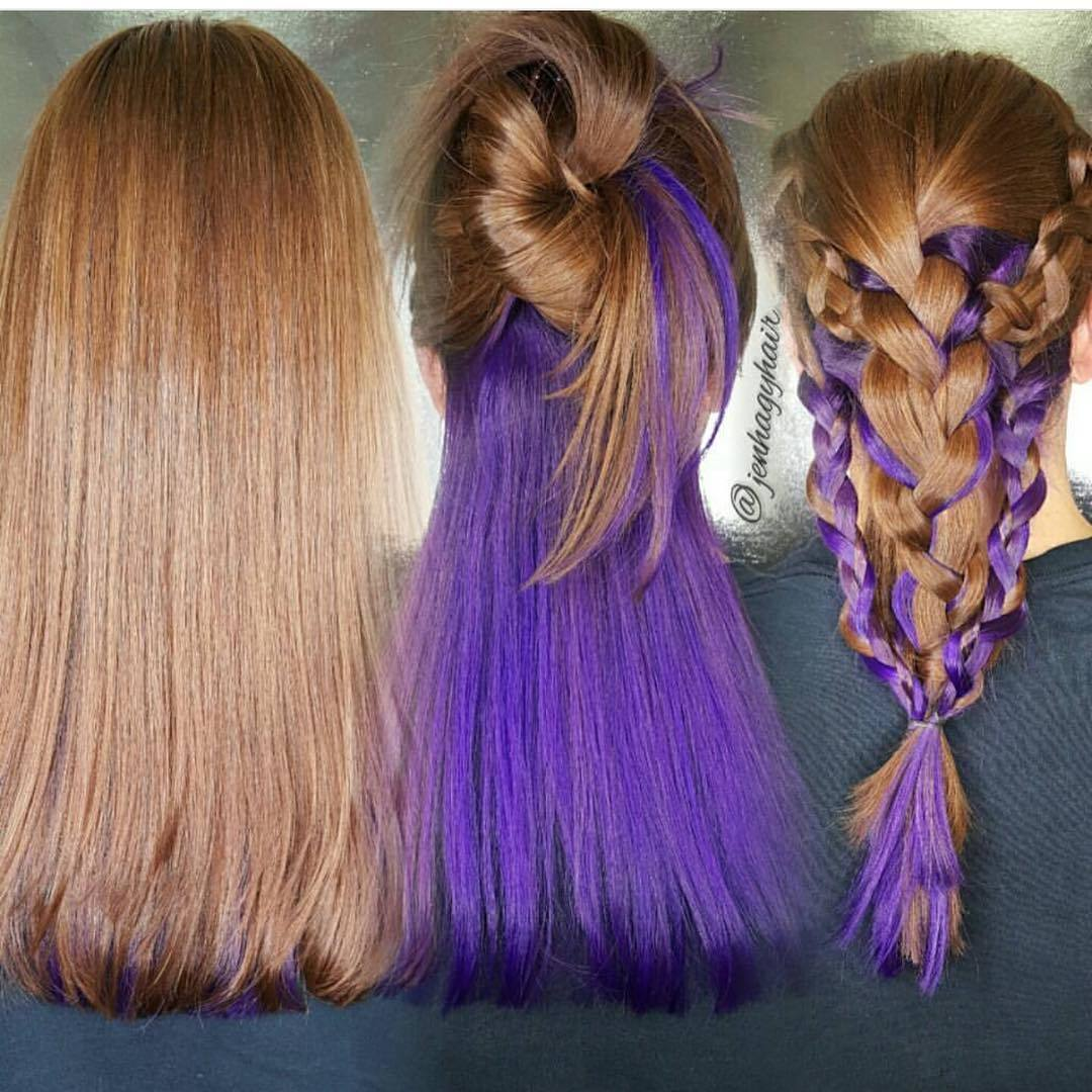 50 Great Ideas Of Purple Highlights In Brown Hair August