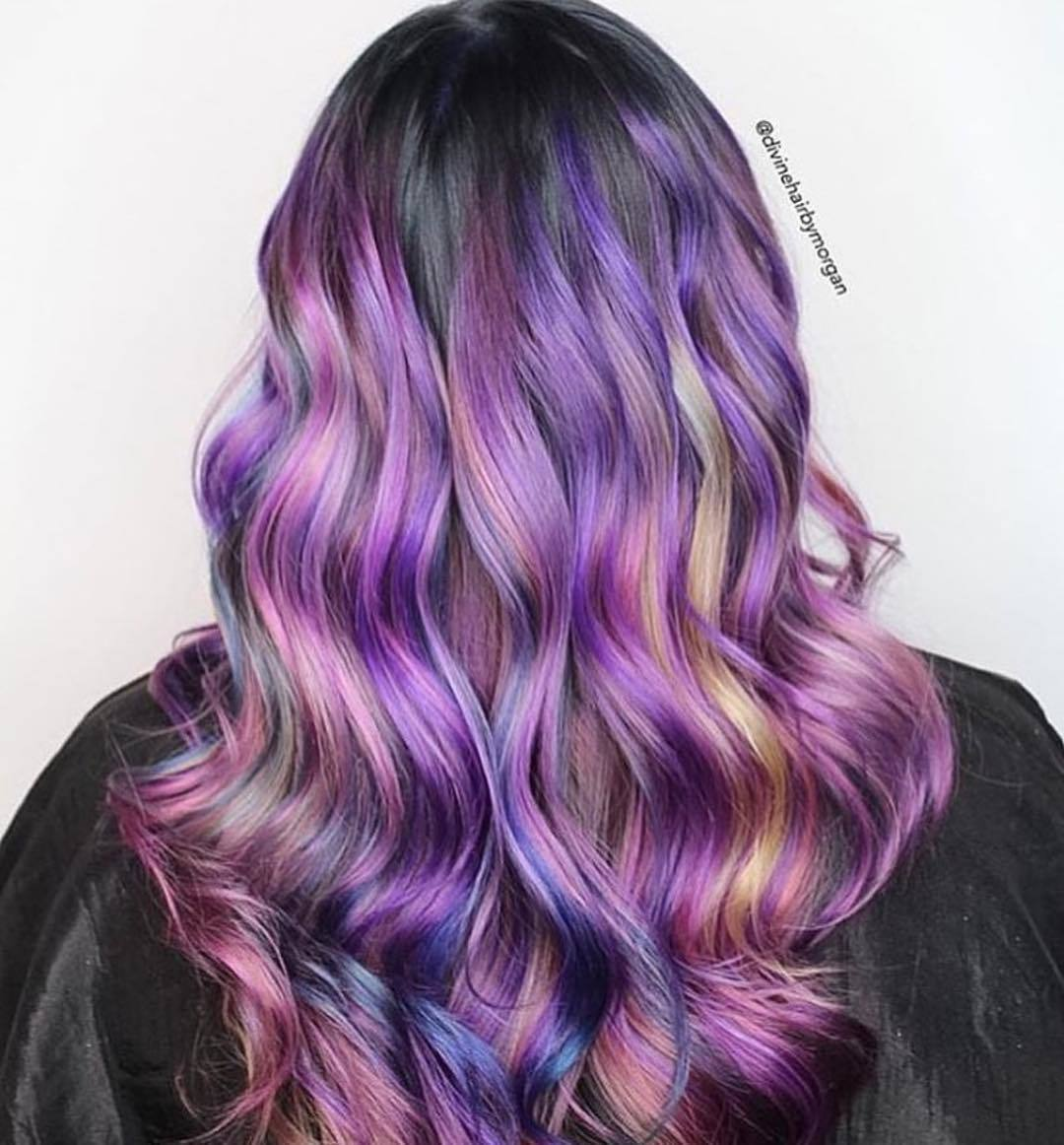 amethyst and blonde streaks